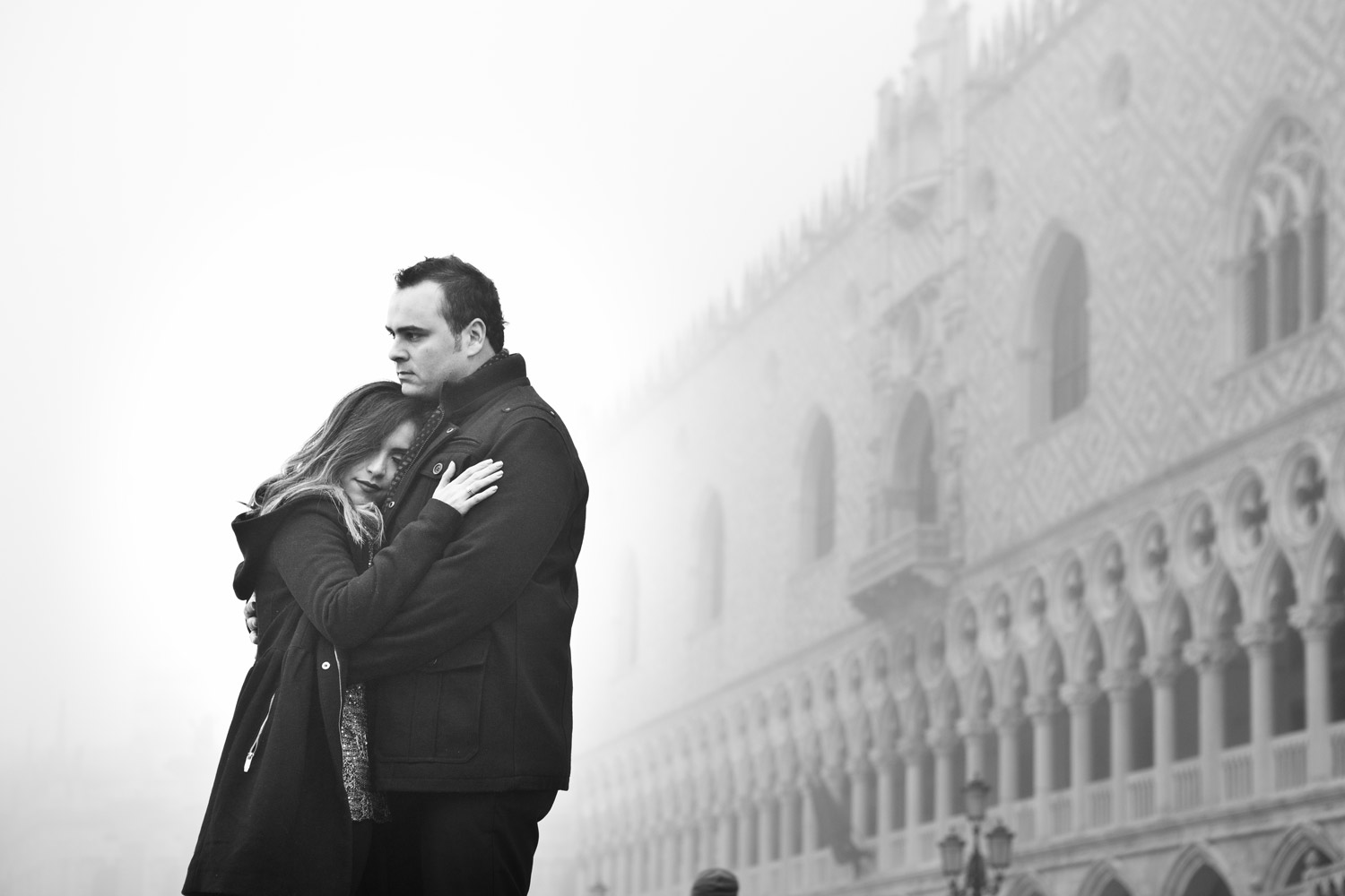 Romantic portrait in Venice