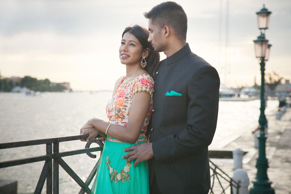 couple; Venice; photoshooting
