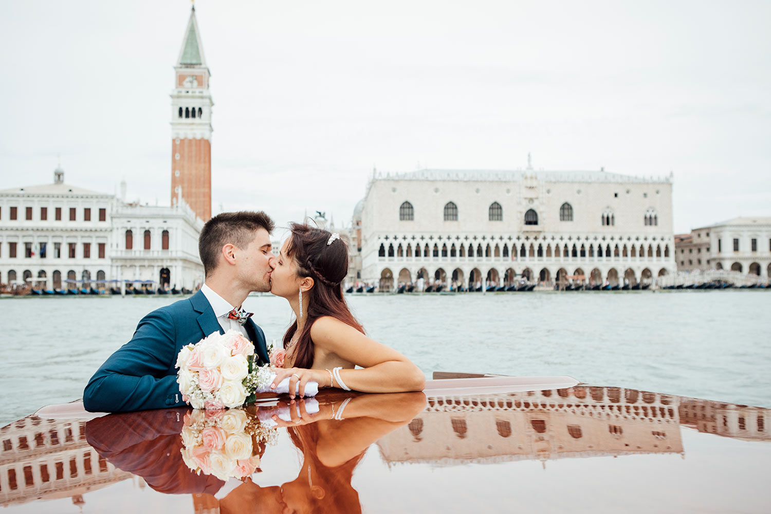 A kiss in front of San Marco