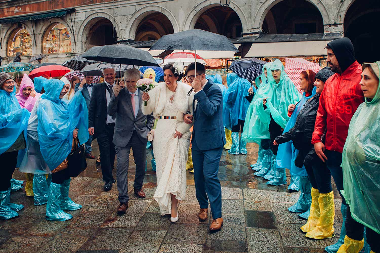 Wedding in Venice in the rain