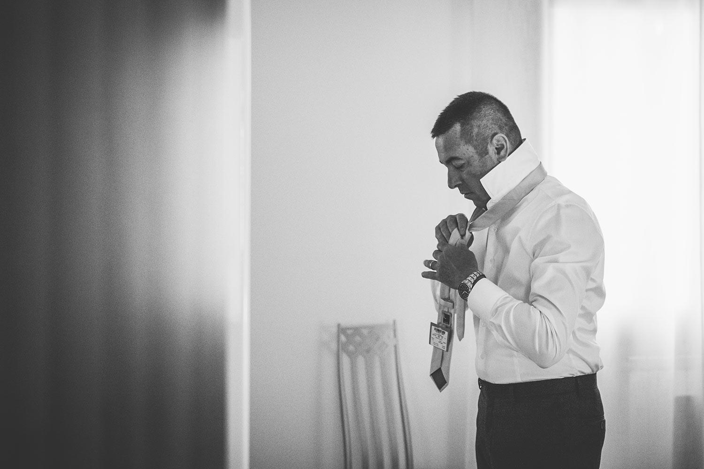 Preparativi padre sposo