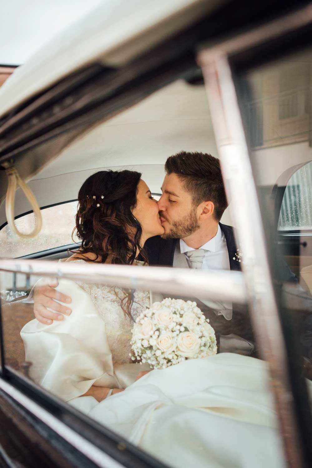 Into the wedding car