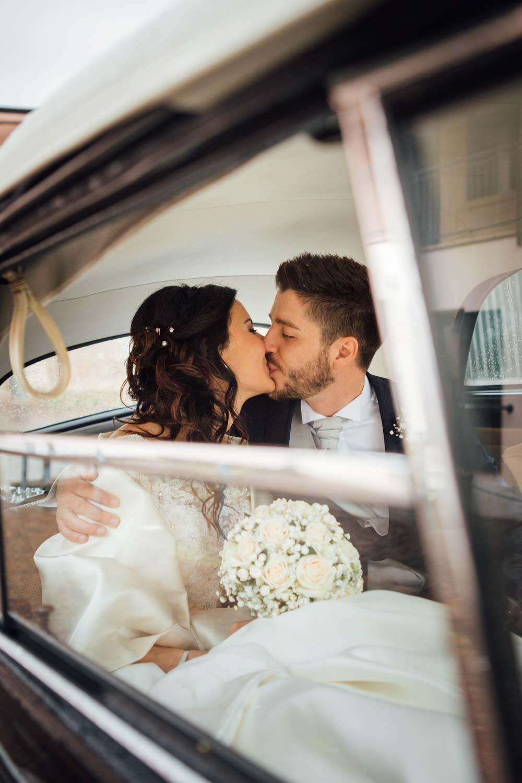 Into the wedding car