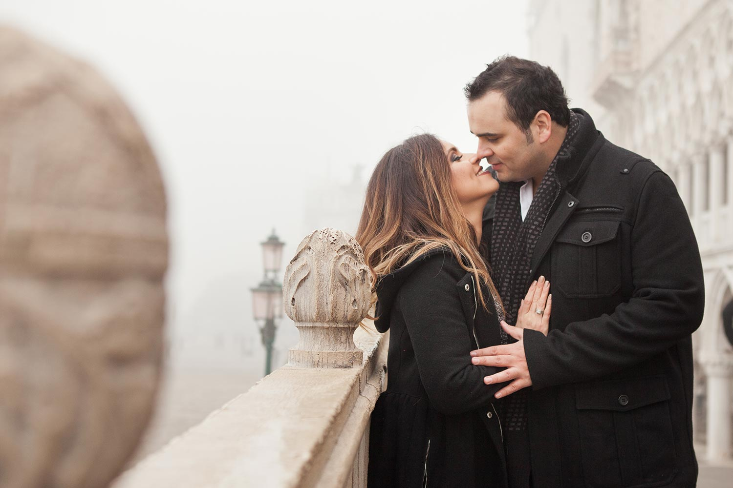 Leticia and Hector in a foggy Venice