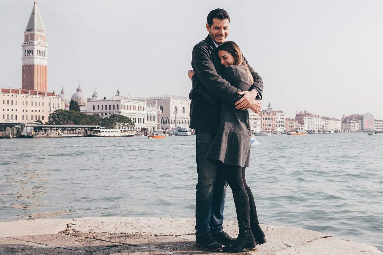 servizio fotografico di fidanzamento a Venezia con Luis