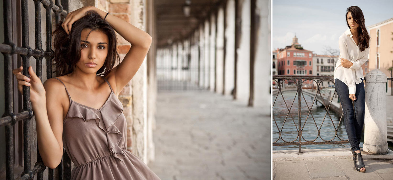 Melina - In location shooting for Model's book in Venice